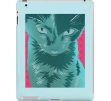 Cyan Cat iPad Case/Skin