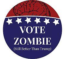 Vote Zombie Photographic Print
