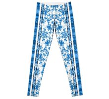 Chinoiserie Striped Floral Print Leggings
