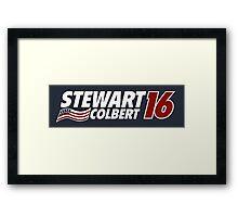 Stewart & Colbert 2016 Election Framed Print