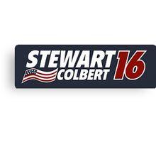 Stewart & Colbert 2016 Election Canvas Print