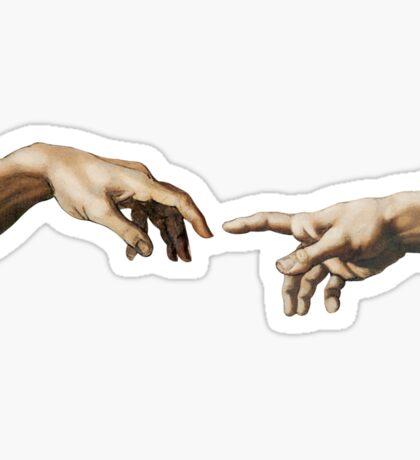 creation of adam Sticker