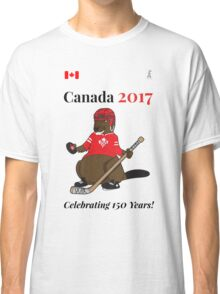 Canada 150, Canada 2017 & Canada Day Shirts & Souvenirs - Canadian Hockey, Curling, July 1 Party, Cool and Heritage Beaver Shirt Selection! Classic T-Shirt
