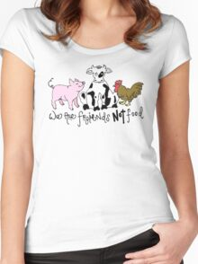 Friends not Food! Women's Fitted Scoop T-Shirt