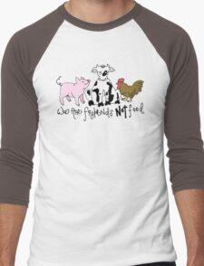 Friends not Food! Men's Baseball ¾ T-Shirt