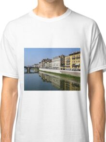 Reflection on the Arno River - Florence, Italy Classic T-Shirt