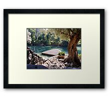 Beautiful River Jordan Framed Print