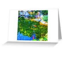 Glowing Reflecting Pond Greeting Card