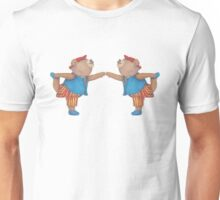 French Twins in Yoga Bear Dancer's pose Unisex T-Shirt