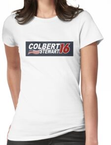 Colbert & Stewart 2016 Election Womens Fitted T-Shirt