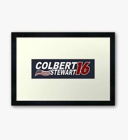 Colbert & Stewart 2016 Election Framed Print