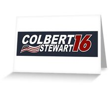Colbert & Stewart 2016 Election Greeting Card