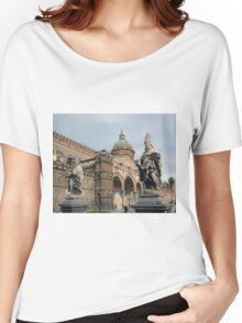 Statues of the Santa Maria Assunta - Palermo Cathedral  Women's Relaxed Fit T-Shirt