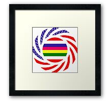 Korean American Multinational Patriot Flag Series 2.0 Framed Print