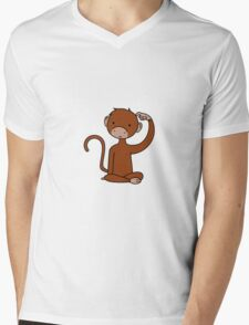 Brown Monkey Mens V-Neck T-Shirt