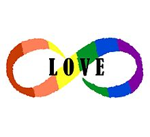 Love is Infinite Photographic Print