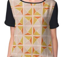 Vintage geometric pattern Chiffon Top