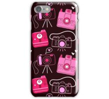 Red & Pink Shutter Bug Retro Cameras iPhone Case/Skin