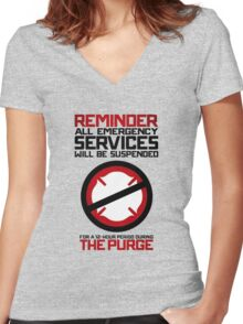 Reminder The Purge Women's Fitted V-Neck T-Shirt