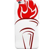 Flaming torch art iPhone Case/Skin