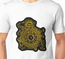 TamDin Buddhist Protective Charm gold on black Unisex T-Shirt