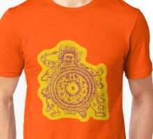 TamDin Buddhist Protective Charm purple on gold Unisex T-Shirt