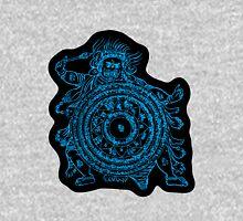 TamDin Buddhist Protective Charm sky blue on black Unisex T-Shirt