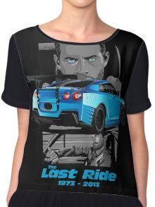 Paul walker Last Ride forever Chiffon Top