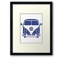 Retro VW Volks Wagon Camper Van Framed Print