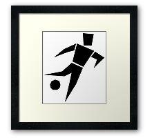 Soccer player cartoon art Framed Print