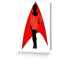 Star Trek - Silhouette Uhura Greeting Card