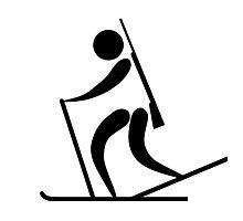 Olympic sports biathlon pictogram Photographic Print