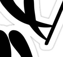 Olympic sports lacrosse pictogram Sticker