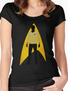 Star Trek - Silhouette Kirk Women's Fitted Scoop T-Shirt