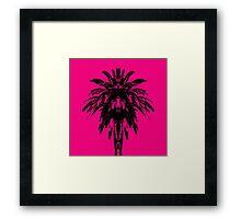 Palm Tree - Pink Sky Framed Print