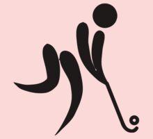 Olympic sports field hockey pictogram One Piece - Long Sleeve