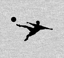 Soccer horizontal shot silhouette Unisex T-Shirt