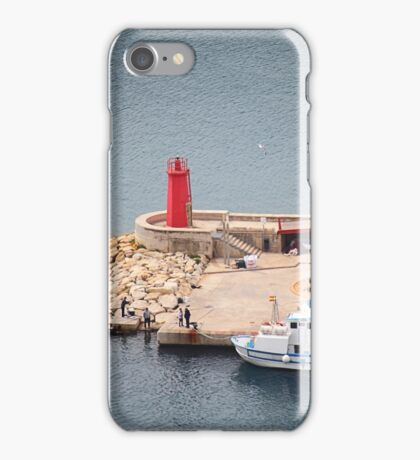 The port light Javea Spain iPhone Case/Skin