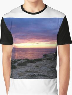 Sunrise over Delimara Malta Graphic T-Shirt