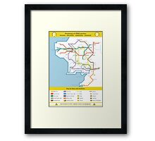 Routemap of Middle Earth Framed Print