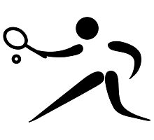 Olympic sports tennis pictogram Photographic Print
