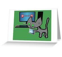 Tech Cat Greeting Card