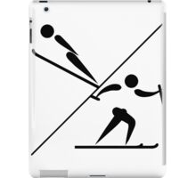 Olympic sports Nordic combined pictogram iPad Case/Skin