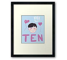 NCT U's TEN Chittaphon  Framed Print