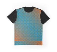 Blue and orange colorful floral pattern Graphic T-Shirt