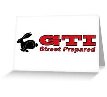 rabbit GTI Greeting Card