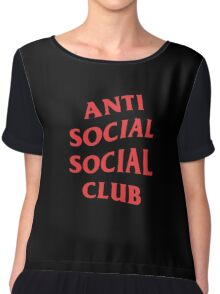 Anti Social Social Club Chiffon Top