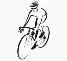 Riding a bicycle art Kids Tee