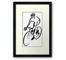 Riding a bicycle art Framed Print