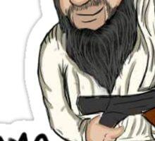 Osama guns. Sticker